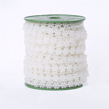 HAOCHU 10m Line Artificial Pearls Beads Chain Garland for Wedding Cloth Decor Marriage Supplies 10mm Snowflake White/Beige