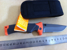 7Cr17mov Blade Camping Survival Knife Scout Pocket Rescue Folding Sheath Knife (large model)