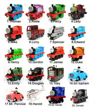Hot Sale 5PCS /lot Diecast Metal Thomas And Friends Train Toy Magnetic Models engine trackmaster Toys For Kids Children Gifts
