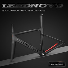 2018 NEW LEADNOVO carbon fiber road frame Di2&Mechanical racing bike carbon road frame+fork+seatpost+headset carbon road bike(China)