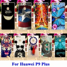 DIY Custom Painted Hard Plastic Cell Phone Cases For Huawei P9 Plus Housing Cover Durable Protective Captain American Shell Hood