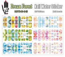 6 Sheets/Lot Art Nail HOT340-345 Dream Forest Full Cover Nail Film Nail Art Water Sticker Decal For Nail Art (6 DESIGNS IN 1)(China)