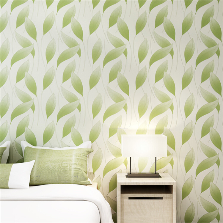 Leaf Patten 3D Wallpaper for Wall  Non Woven Wall Paper Roll Living Room Green Purple Yellow Leaf Wallpaper for Bedroom<br>