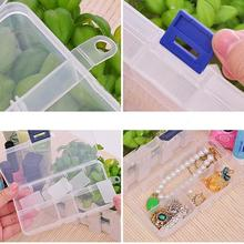 13x6.5x2.5cm 10 Slots Plastic Compartment Jewelry Necklace Big Storage Box Craft Organizer Container(China)