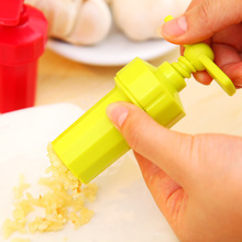 1PC Plastic Garlic Press Kitchen Accessories Mini Cutter Crusher Grinder  Manual Vegetable Tools Peel Garlic Cooking Utensils