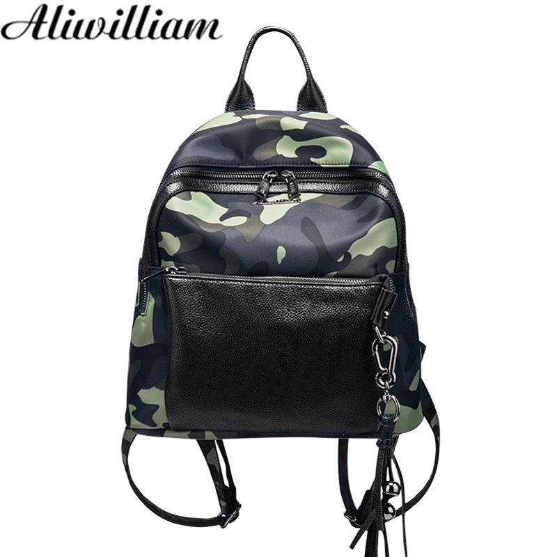 Camouflage Backpack Women Fashion Bag Preppy Style Backpack Japan and Korean Style PU leather Girl Schoolbag Shoulder bag AL208<br>
