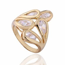 Top New CZ Fashion Jewelry Gold-color Wedding Women White Zirconia Ring Total price > $10 Free Shipping Size 6 7 8 9(China)