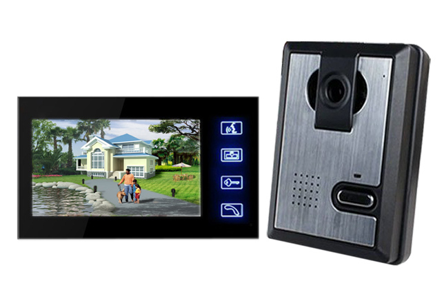 Wholesale Wired Touch Key Home Color Video door Phone Doorbell Intercom System 7 inch LCD Monitor free shipping<br><br>Aliexpress