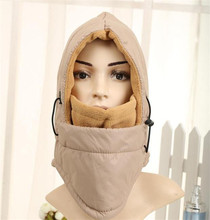 Adjustable Outdoor Winter Thermal anti-water Neck Face Mask Hood Warmer Balaclava waterproof(China)