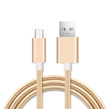 Metal Nylon Braided Micro USB 2.0 Cable Car-charger Charging Wire For Samsung Galaxy J5 S3 S6 S7 Edge Xiaomi Redmi Power bank(China)