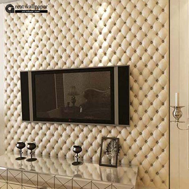 Great Wall 3D Imitation Leather vein 10 m roll wallpaper for walls,living room of 3d wall paper,papel de parede roll 3d room<br>