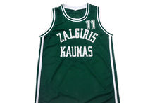 Arvydas Sabonis #11 Zalgiris Kaunas New Men Basketball Jersey Green Embroidery Stitched Custom any Number and name Jerseys(China)
