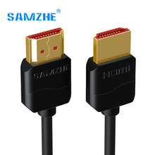 SAMZHE Slim HDMI Cable HDMI to HDMI Cable HDMI 2.0 4K 3D for PS3 Projector HD LCD Apple TV Computer Cables 0.5M 1M 1.5M 2M 3M(China)