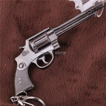 New Miniature Revolver Pistol Weapon Metal Model Keychain Key Rings New Mini Gun key Chain For Men Jewelry Accessoires Gift