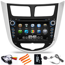 2 Din Car DVD Player For Hyundai Solaris Verna accent With Radio Navigation GPS Bluetooth TV Ipod 3G/WIFI USB Host Free Map
