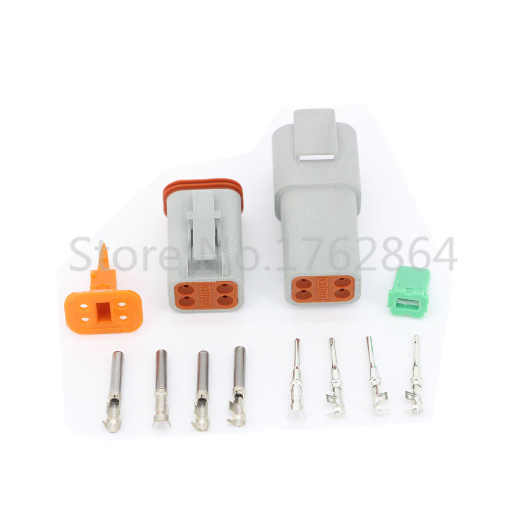 10 Sets DJ3041Y-1.6-11/21 Deutsch Connectors 4 Pin DT04-4P/DT06-4S Automobile waterproof wire electrical connector plug 22-16AWG<br><br>Aliexpress