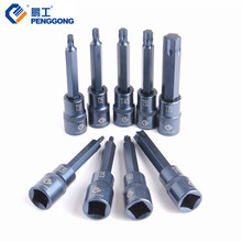 "PENGGONG 1/2"" Screwdriver Bits Torx Socket 100mm Head Screwdriver S2 Power Tool Accessories For Auto Repair 1PC(China)"