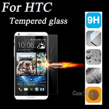 9H Tempered Glass For HTC New One M8 2.5D Round Border High Transparent Screen Protector Film For HTC M8 with+clean kits(China)