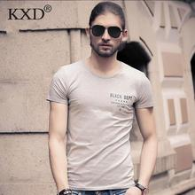 KXD High Quality Cotton T-Shirt Men Brand  T Shirts Men Sexy O Neck Mens T Shirts Simple Plain Colors Tee Tops White T Shirt