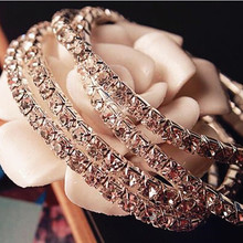 1PC New Women's Fashion Retro Vintage Noble Exquisite Rhinestone Shining Bracelet Woman CBD89(China)