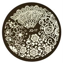 1pc Beauty Flower Styles Image Polish Printing Nail Stamping Plates Nail Art Templates Stencils Manicure Styling Tools JIJQN-17