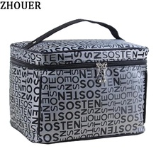 Extra Large Capacity Woman Cosmetic Bags Big Travel Toiletry Bag Letter Pattern Necessary Organizer Makeup Bag Storage ZL100(China)