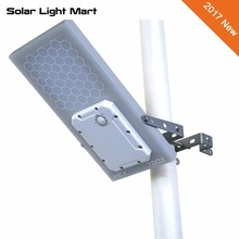 HEX 780X All in One Solar Powered Warm White Solar LED Outdoor Street Light Pole Light Waterproof Day/Night Sensor 3 Power modes