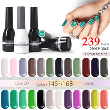 CANNI 15ml Nail Polish Gel Paint 240 Color Nail Art Salon High Quality New Design 62507 Soak off One Step UV LED Nail Gel Polish(China)