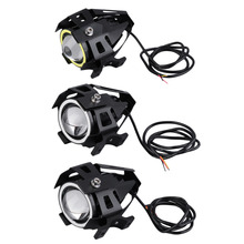 New Arrivals 1pc 3 colors High Power 125W U7 LED Motorcycle Spot Light Driving Headlight Fog Lam(China)