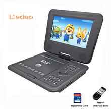 Liedao 7.8 inch Portable DVD EVD VCD SVCD CD Player With Game and radio Function TV AV Support SD MS MMC Card(China)