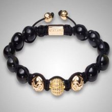 Wholesale Shamballa Bracelets for Men Customized DIY Shamballa Jewelry Golden Black Beads Adjustable Free Shipping NY-B-475