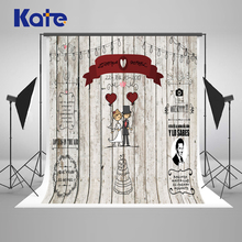Kate Wedding Wood Backdrops Blackboard for Photo Studio Wedding Background Photography Customise size made fotostudio photocall
