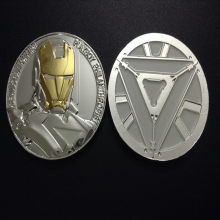 20 pcs/lot Hollywood movie The Avengers Iron Man Challenge silver plated Coin Gift