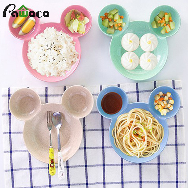 1pc cartoon chips snacks dishware dishes divided dish bowl plates rice plate children dinner plate baby tableware lovely dish
