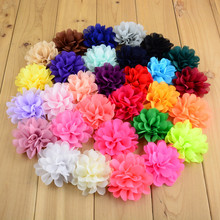 30Pcs 7cm Handmade Chiffon Flower Hair Clips Hairpin DIY Acessories Headdress Hair Accessories Headbands Flowers Without Clips