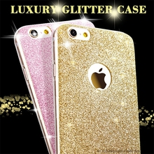 Luxury Fashion Glitter Bling Soft TPU Phone Cases For Apple iPhone 5 5S SE 6 6S 7 Plus 7Plus Shine Protector Cell Back Cover(China)