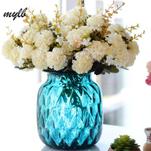 mylb Fake Silk Flower Artificial chrysanthemum Wedding Bridal Home Floral Decor Flower Arrangement DIY(China)