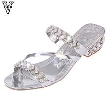 VTOTA Fashion Rhinestone Summer Shoes Woman Wedges Casual shoes Flip Flops Platform Sandals Women Zapatos Mujer Plus Size 35-41(China)