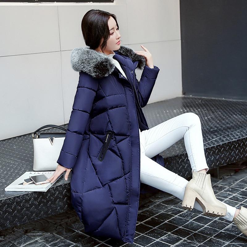 2017 Winter Women Coat Thicken Warm Long Jacket women coat girls long slim big coat jacket Down ParkaÎäåæäà è àêñåññóàðû<br><br>