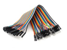 20pcs 20cm 2.54mm 1p-1p Pin Female to Male Color Breadboard Cable Jump Wire Jumper For DIY