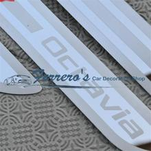For Skoda Octavia A5 A7 2007 2008 2009 2010 2011 2012 2013 2014 Welcome pedal door sill stainless steel car Accessories