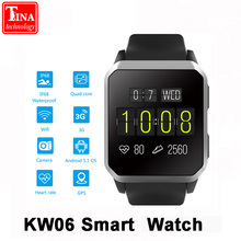 Buy Original KW06 Smart Watch men Heart Rate Monitor Bluetooth Android 5.1 Wrist Phone MTK6580 512MB+8GB Smartwatch Android iOS for $73.38 in AliExpress store