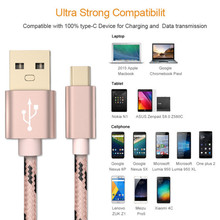 1M Tiger stripes Nylon Strong Braided USB C 3.1 Type-C Data Snyc Charger Charging Cable GSCP2282