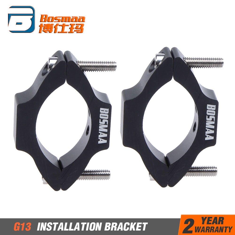 Mdurian Black Universal Motorcycle Motorbike Headlight Lamp Mount Bracket Housing 31mm-39mm Clamp Clip Holder