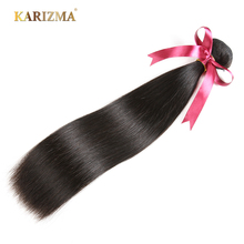 Karizma Indian Straight Hair Bundles 100% Human Hair Weave Non Remy Hair Extensions Double Weft Natural Color Hair Weaving(China)