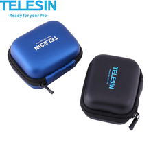TELESIN mini Portable Waterproof Action Camera Protective Case Bag Carrying Storage Box for Gopro Hereo 5/4/3+/2 for Xiaomi yi 2