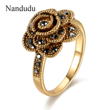 Nandudu FLASH SALE Beautiful Flower Rose Rings Size 6 7 8 9 ON SALE Jewelry Gift Women Girl Party Cocktail Ring R1091