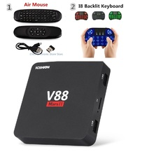 SCISHION V88 Mars II Mini TV Box Quad-core Cortex-A7 Android 6.0 2GB 8GB 16GB 4k Wifi Smart Set Top Box RJ45 HDMI H.264 H.265(China)