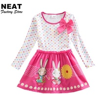 Retail Girls Dress 2017 Spring Brand Children Costume for Kids Dresses Clothes Character Princess Dress NEAT LH4829(China)