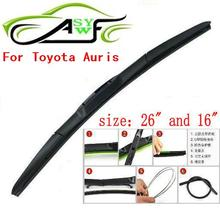 "Free shipping car wiper blade For Toyota Auris Size 26"" 16"" Soft Rubber WindShield Wiper Blade 2pcs/PAIR(China)"